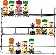 Greenfields Chrome 3 Tier Spice Herb Jar Rack