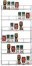 Greenfields Chrome 6 Tier Spice Herb Jar Rack