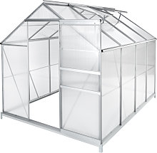 Greenhouse aluminium polycarbonate with foundation