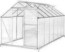 Greenhouse aluminium polycarbonate with foundation