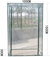 100 x 50 x 150cm Clear PVC Garden Tent Cover Mini Greenhouse Cover Replacement