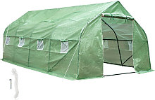Greenhouse polytunnel tent - green