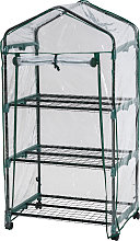 Greenhouse with 3 shelves 69 x 49 x 125 cm -