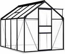 Greenhouse with Base Frame Anthracite Aluminium