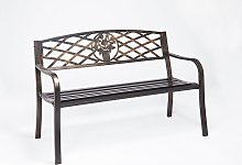Greenhurst 2 Seater Garden Bench with Cast Iron
