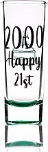 Greenline Goods Birthday Shot Glass (Happy 21