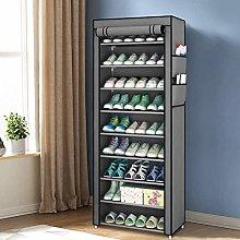 Greensen 10-tier Shoe Cabinet Rack Fabric Cabinet