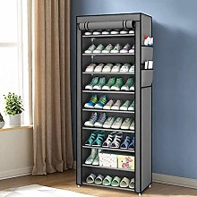 Greensen 10-tier Shoe Cabinet Rack Fabric Cabinet