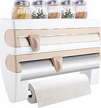 Greensen 4 i n 1 Kitchen Cling Film Holder Rack