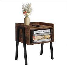 GREENSEN Bedside Table Cabinet with Drawer