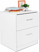 Greensen Bedside Table White Drawer Cabinet
