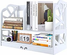Greensen Desktop Bookshelf Wooden Desktop Storage