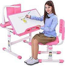 Greensen Kids Study Table and Chair Set, Pink
