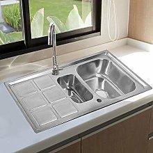 Greensen Kitchen Sink Stainless Steel Brushed