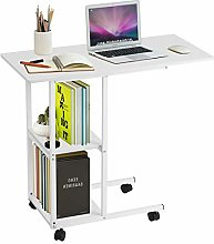 Greensen laptop table with castors, side table,