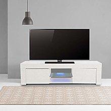 Greensen LED TV Stand Cabinet Unit Modern White TV