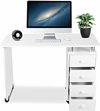 Greensen Manicure Table Nail Desk with Wheels,