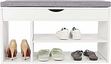 Greensen Shoe Cabinet Entryway Shoe Bench with