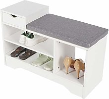 Greensen Shoe Cabinet with Cushion Shoe Bench with