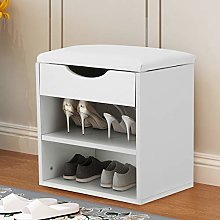 Greensen Shoe Cabinet Wooden Shoe Rack Bench with