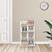 Greensen Shoe Rack White Stand Shelf 4 Shelves