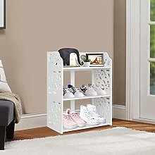 Greensen shoe rack white stand shelf small