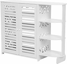 Greensen White Storage Benches, 4 Tier Shoe Rack