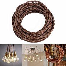GreenSun 10 metres 2 Core Brown Textile Cable