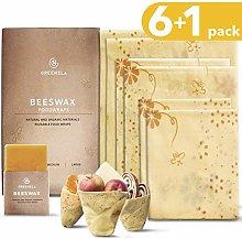 Greenzla Reusable Beeswax Food Wrap (Set of 6 +