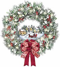 grefen Large Christmas Wreath Stickers Reef Floral