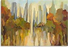 Gregory Lang - City Park Canvas Print, 70 x 100cm,