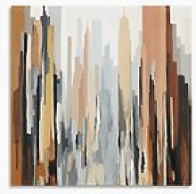 Gregory Lang - Manhattan Abstract Canvas Print, 80