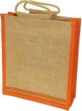 Grehom Gift Bag Large - Orange Zari; Beautiful