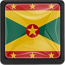 Grenada Flag 3 Pack Crystal Glass Cabinet Knob
