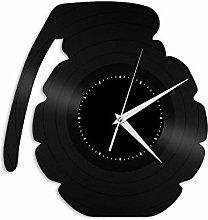 Grenade Vinyl Wall Clock, Vinyl Record Home Decor