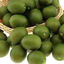 Gresorth 20 PCS MINI Fake Green Lemon Artificial
