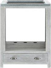 Grey Acacia Wood Kitchen Base Cabinet for Oven W70