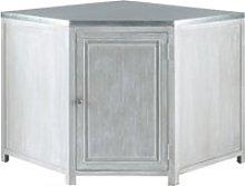 Grey Acacia Wood Kitchen Base Corner Cabinet W99