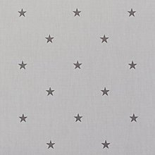 Grey and Black Star Oilcloth Wipe Clean Tablecloth