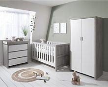 Grey and White 3 Piece Nursery Furniture Set -