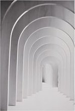 Grey and white arches canvas print 100x150cm