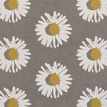 Grey and White Daisy Capri Chartreuse Oilcloth