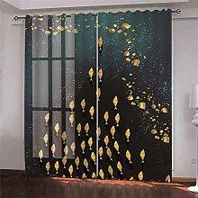 Grey Animal Bird Thermal Blackout Curtain, 234 (W)