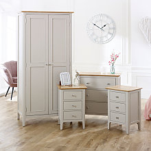 Grey Bedroom Furniture, Double Wardrobe, Chest of