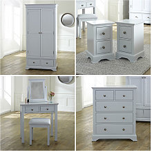 Grey Bedroom Furniture, Wardrobe, Chest of