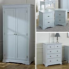 Grey Bedroom Furniture, Wardrobe, Chest of Drawers