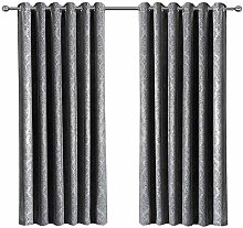 Grey Blackout Curtain 46 x 54 Inch - Noise