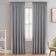 Grey Blackout Curtains Pencil Pleat Thermal