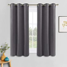 Grey Blackout Curtains - Thermal Insulated Grommet