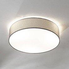 Grey ceiling lamp Pasteri, linen lampshade 57 cm
